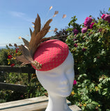 Coral and Gold Fascinator - My Fascinators