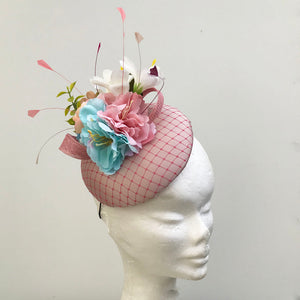 Pink Floral Fascinator - My Fascinators