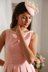 baby pink and pearl fascinator hat - My Fascinators