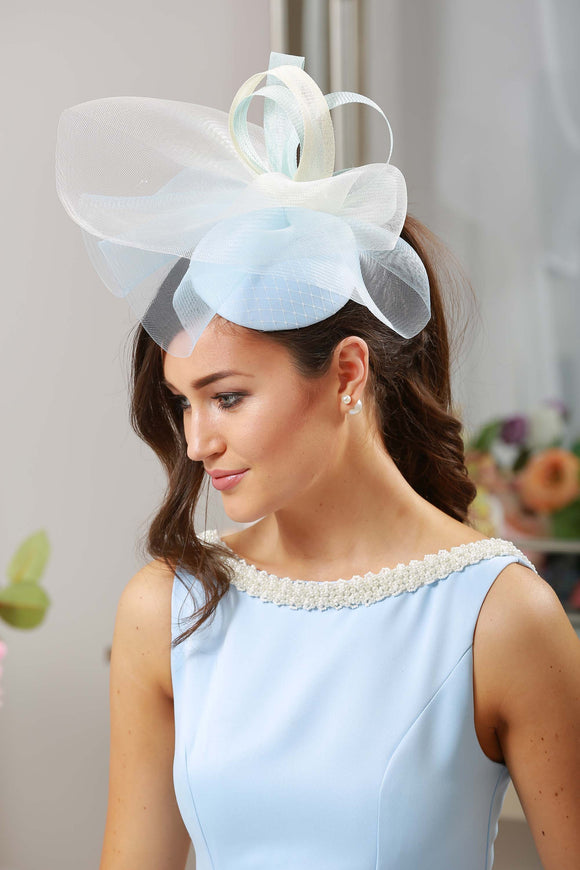 Bespoke Powder Blue Headpiece - LadyVB   s.r.o - 1