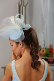 Bespoke Powder Blue Headpiece - LadyVB   s.r.o - 2