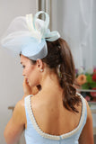 Bespoke Powder Blue Headpiece - LadyVB   s.r.o - 3