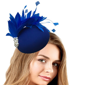 Blue fascinator hat - My Fascinators