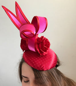 Red and pink fascinator - My Fascinators