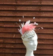 Pink and vanilla fascinator - My Fascinators