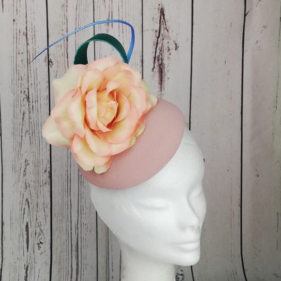 Blush pink floral fascinator - My Fascinators