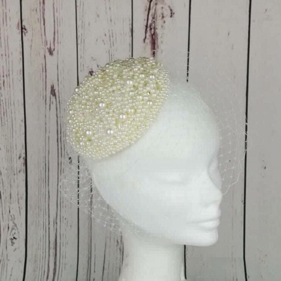 Cream pearl fascinator - My Fascinators