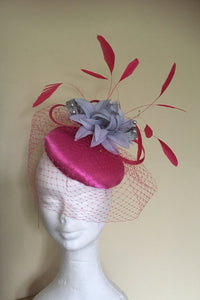 Pink and Silver Fascinator - My Fascinators