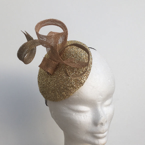 Gold Metallic Fascinator - My Fascinators