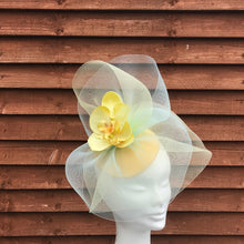 Yellow and blue fascinator - My Fascinators