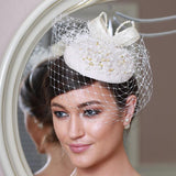 Gold and beige cream fascinator - My Fascinators