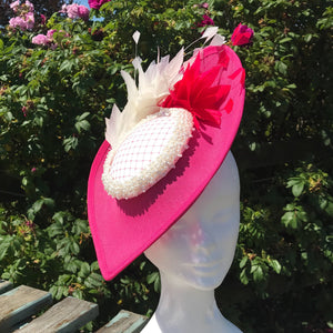 Pink and cream fascinator - My Fascinators