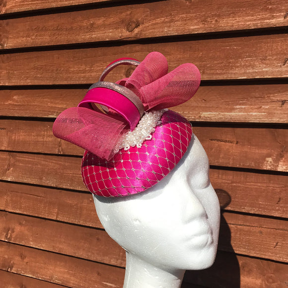 Pink and rose gold fascinator
