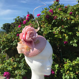 Blush pink fascinator - My Fascinators