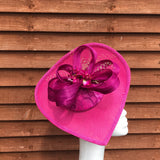 Magenta and pink Fascinator - My Fascinators