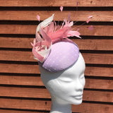 Lilac and pink fascinator - My Fascinators