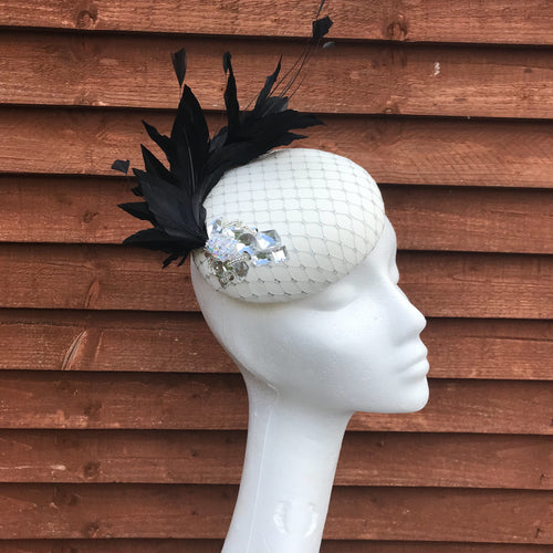 Waterford black and vanilla fascinator - My Fascinators