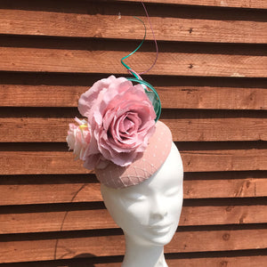 Pink and mint fascinator - My Fascinators