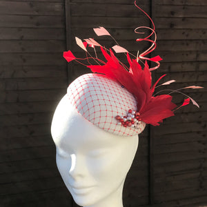 Pink and red fascinator - My Fascinators