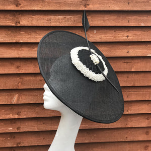 Black and pearl fascinator - My Fascinators