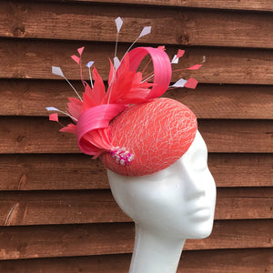 Pink and orange Fascinator - My Fascinators
