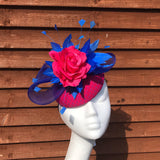 Kerry Blue and pink fascinator - My Fascinators