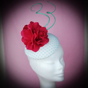 Vanilla and floral fascinator - My Fascinators