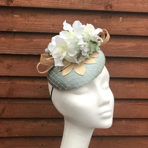 Mayo Mint & gold fascinator - My Fascinators