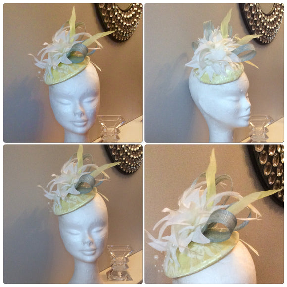 Lemon and Cream Fascinator - My Fascinators