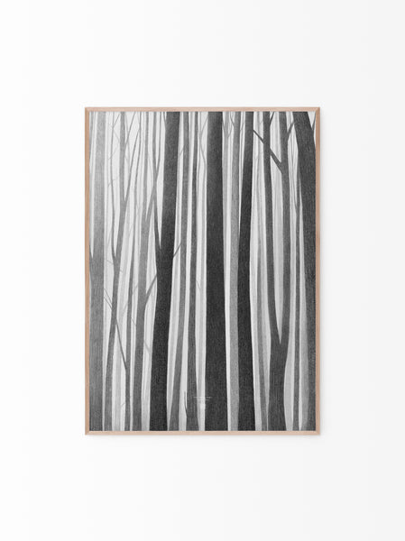 Helena Frank Wooden lines 50x70 cm