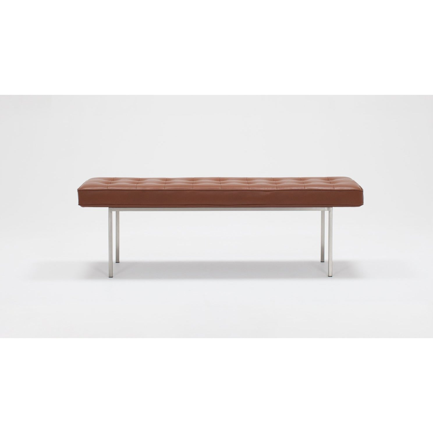 Reverie Leather Bench Venice Steel