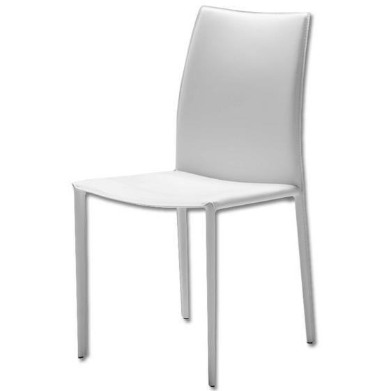 Zak Leather Dining Chair White 122 West