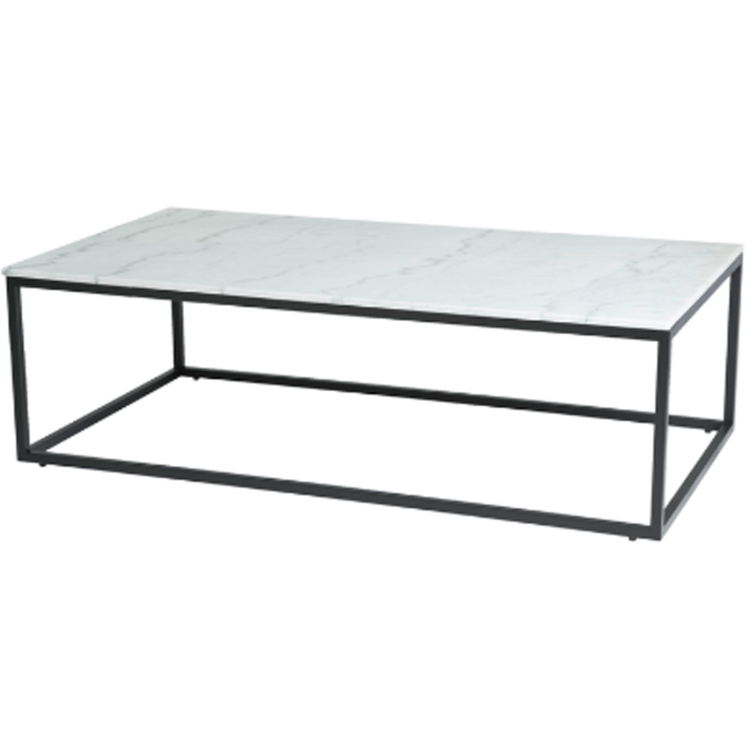 Verona Marble Coffee Table: Black And White Marble