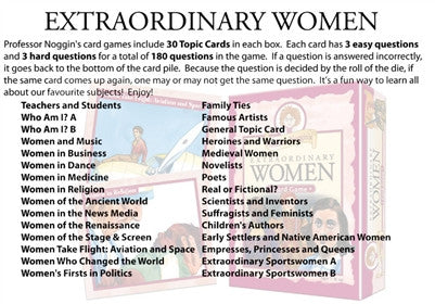 Professor Noggin's Extraordinary Women - Why-Games
