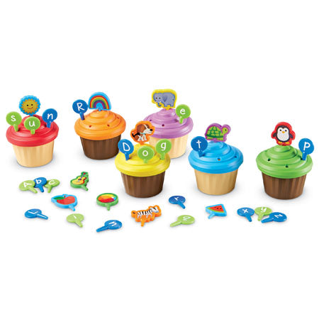 ABC Party Cupcake Toppers