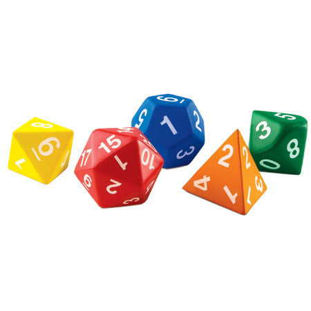 Jumbo Foam Polyhedral Dice - Why-Games