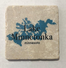 Marble Coaster- Lake Minnetonka Blue