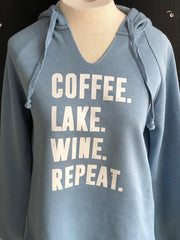 Coffee Lake Wine Repeat Hoodie
