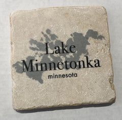 Marble Coaster- Lake Minnetonka B/W Map