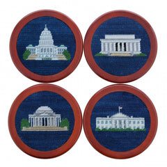 DC Monuments Needlepoint Coaster Set by Smathers & Branson