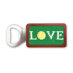 Love All Needlepoint Bottle Opener by Smathers & Branson