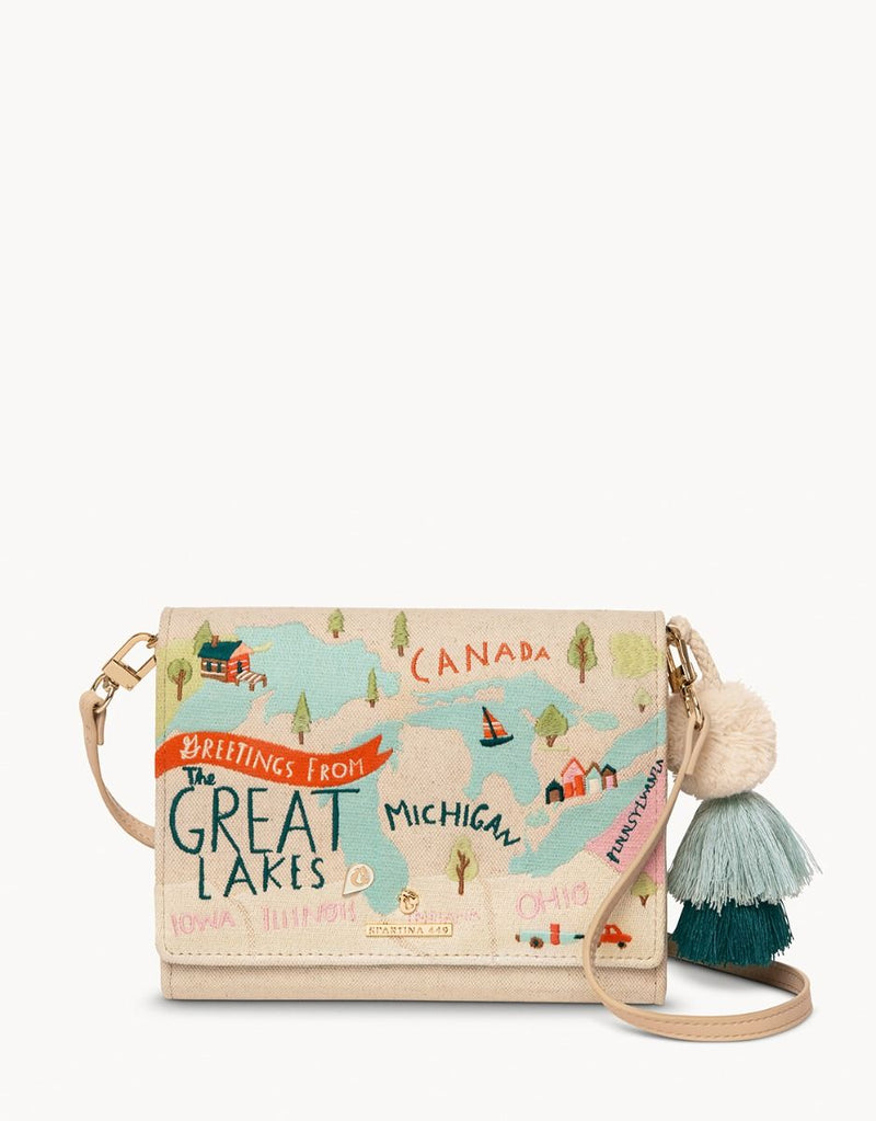 Great Lakes Embroidered Crossbody by Spartina