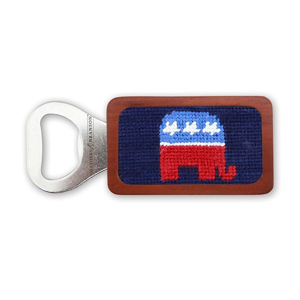 Republican Needlepoint Bottle Opener by Smathers & Branson