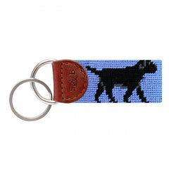 Black Lab Key Fob-Blue by Smathers & Branson