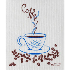 Wet It Dish Towel- Coffee Time
