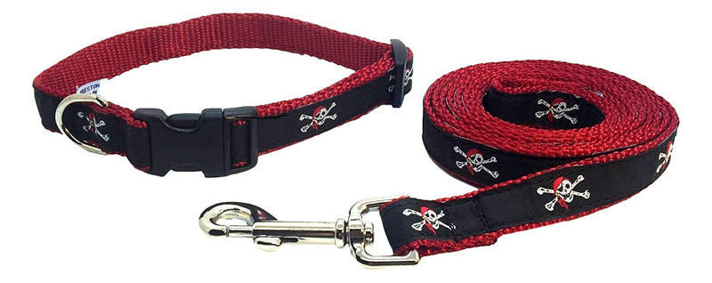 Skull & Crossbones Dog Collar and Leash