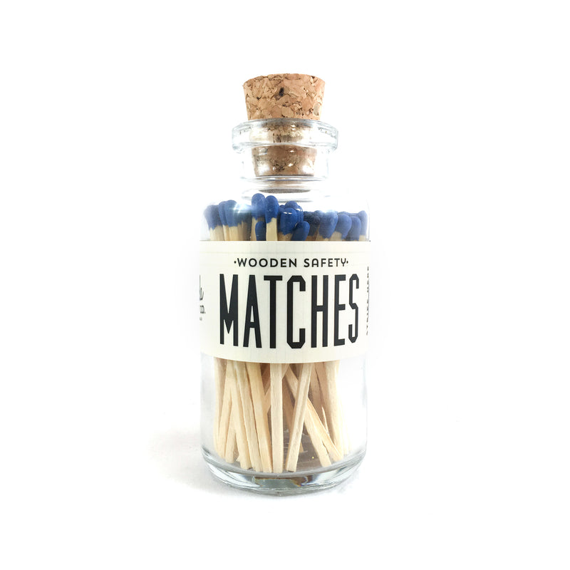 Blue Matches Apothecary Vintage Fireplace
