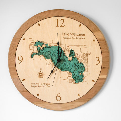 "17.5"" Wall Lake Clock"