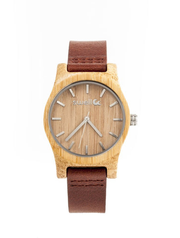 Cow Girl Bamboo Watch