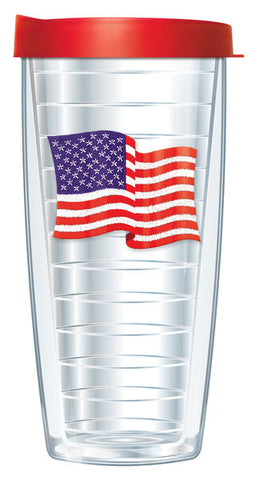 American Flag Travel Tumbler